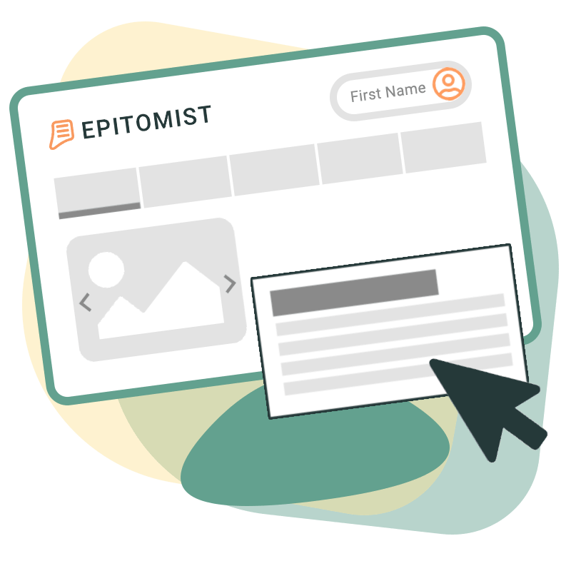 Epitomist - UI Design