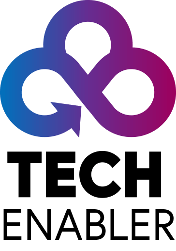 TechEnabler - Vertical Logo